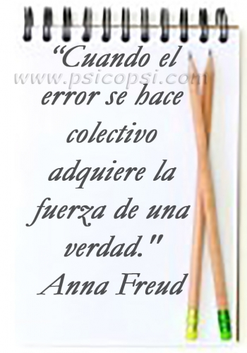 El Error - Anna Freud