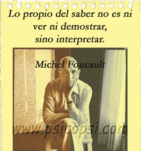 Interpretar (M. Foucault)