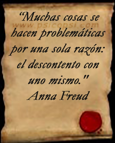 Descontento - Anna Freud