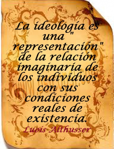 La representación (Louis Althusser)